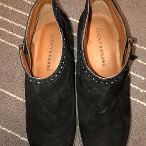 Lucky Brand Shoes - Lucky Brand Black Booties with small studs, Size 8